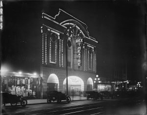 Rex Theatre, 25 West Hastings Street, Vancouver, BC, opened December 20, 1913.