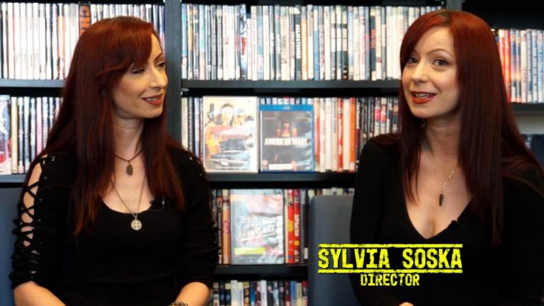 Jen Soska and Sylvia Soska also known as The Soska Sisters or The Twisted Twins, filmed at our Visual Resource Library.
